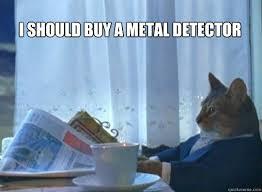 Metal Detector Meme - i should buy a metal detector i should buy a cat quickmeme