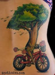 tree bike by olive tattoos