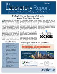 the laboratory report spring 2016 by houston methodist