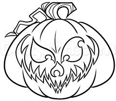 jack o lantern drawing drawing sketch library