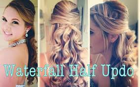 dressy hairstyles for medium length hair pretty princess y half updo youtube