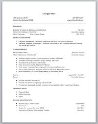 Sample Resume For Business Administration Graduate by Wonderful Sample Resume For Recent College Graduate With No