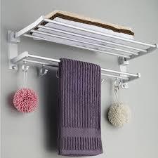 bathroom towel folding ideas alumimum folded silver bath towel shelf washcloth rack holder with