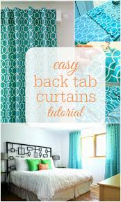 Tab Curtains Pattern Remodelaholic Simple Sewn Back Tab Curtains