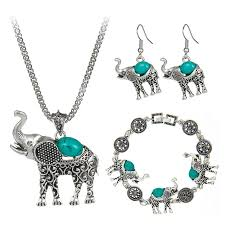 boho necklace set images Elephant boho necklace set top tier style jpg