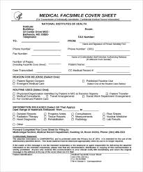 medical fax cover sheet u2013 9 free word pdf documents download