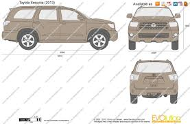 toyota sequoia seating capacity the blueprints com vector drawing toyota sequoia