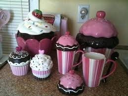 cupcake canisters for kitchen kitchen theme sets setbi club