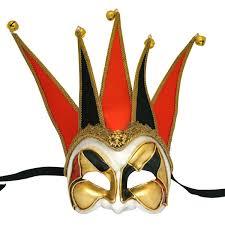 red venetian masks for men