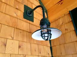 Gooseneck Outdoor Light Fixtures Gooseneck Barn Lighting For Rustic Mountain Home