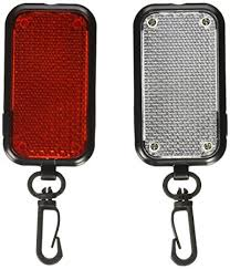 kikkerland fl20 flasher safety reflector lights 2 set led