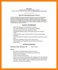 8 dance resume examples mla cover page