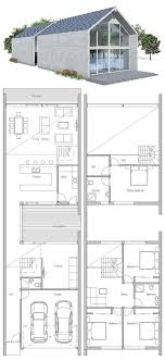 small narrow house plans narrow house small courtyard floor plan from