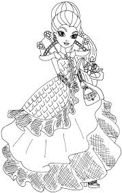 ever after high cupid coloring page in coloring pages shimosoku biz