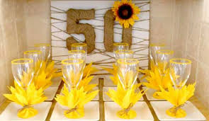 50th birthday party ideas 50th birthday sunflower party feature on the day