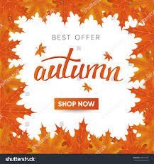 autumn special offer post stock vector 728314666