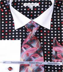daniel ellissa men u0027s multi polka dot dress shirt set