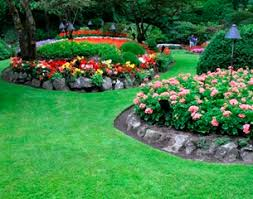 Designing Flower Beds Garden Design Garden Design With Awesome Lawn With Flower Beds On