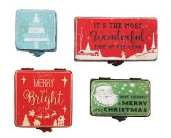 christmas boxes retro christmas tins small metal vintage style christmas