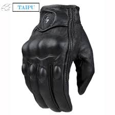 motocross full gear top guantes fashion glove real leather full finger black moto men