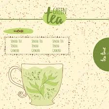 card with sketched cute teapot for menu design or web template