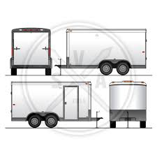 vehicle wrap template archives stock vector art