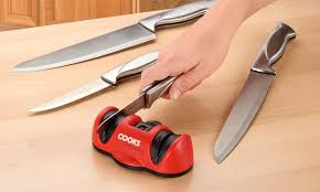 sharpening kitchen knives with a cooks professional kitchen knife sharpener from 10 99 in kitchen