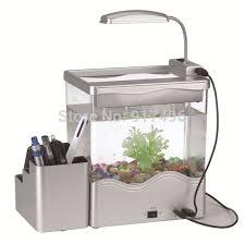 aquarium bureau usb petit aquarium multifonctionnel porte plume mini aquarium