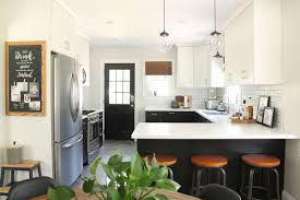 Peninsula Kitchen Floor Plan by Home Tour Danks And Honey