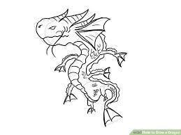 4 ways draw dragon wikihow