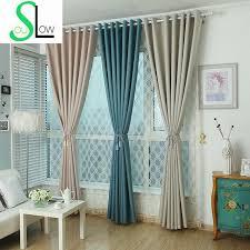 Grey Beige Curtains Aliexpress Buy Soul Violet Coffee Grey Beige Lake Blue