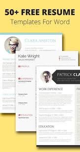 modern resume template for use with microsoft word professional