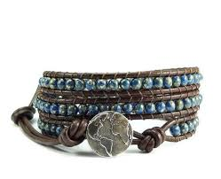 wrap bracelet with beads images Triple leather wrap bracelet beaded bracelet wrap bracelet jpg
