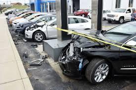 crashed subaru wrx 14 cars damaged at dealership local news thenewsenterprise com