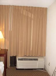 Light Block Curtains Air Conditioner And Thick Light Blocking Curtains Picture Of