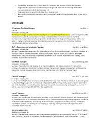 Facility Manager Job Description Resume by Douglas Crain Resume 2 18 16
