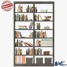 3d model bookshelves cgtrader