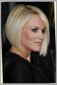 hair cut in a jenny mccarthy bob to soften a strong jaw line