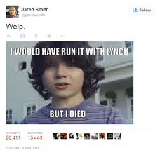 Jared Meme - boomer highlight jared smith and the funniest super bowl xlix