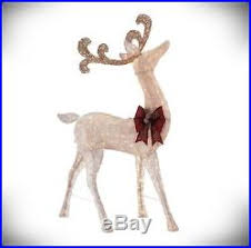 lawn reindeer with lights outdoor christmas buck reindeer decoration pre lit holiday yard