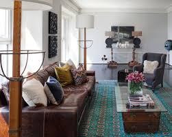 Brown Leather Sofa Living Room Dazzling Design Brown Leather Living Room Ideas Contemporary
