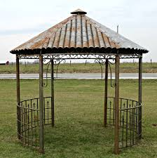 100 iron tiki hut gazebo metal hardtop roof gazebo