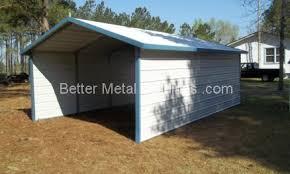 a frame carport boxed eaves carports and custom metal buildings
