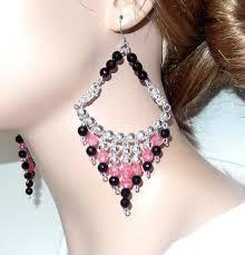 Chandelier Beaded Earrings White Bead 34 Best Beaded Chandelier Earrings Images On Pinterest Bead
