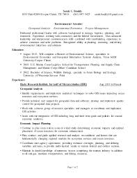 Scientist Resume Environmental Scientist Resume For Linkedin