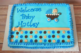 boy baby shower cake 1 3 sheet cake with fondant accents https