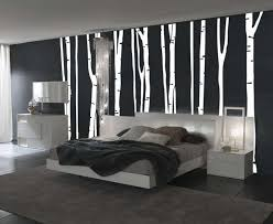 Design For Headboard Shapes Ideas Wonderful Black White Bedroom Decor With Tree Shape Wall Plus
