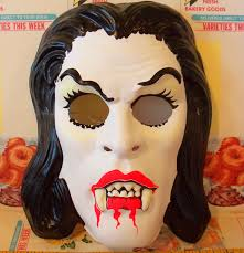 vintage collegeville glow in the dark vampire halloween mask