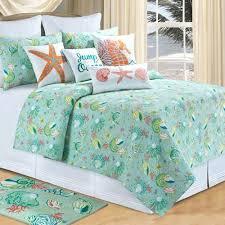 Beach Themed Comforter Sets King Beach Themed King Size Quilts Beach Themed Twin Quilts Clamshell