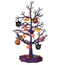 sparkling color changing tree with ornaments